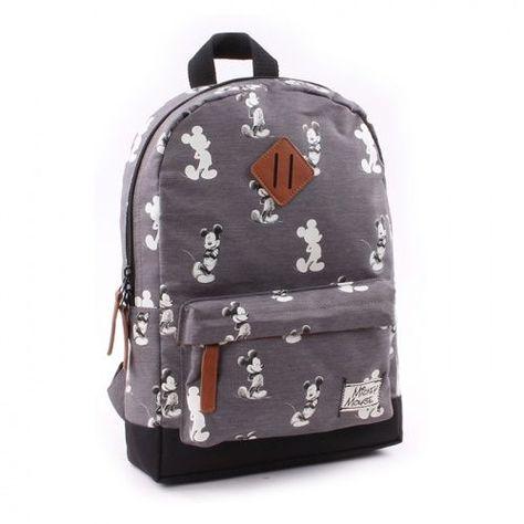 e4df59769 Mochila gris para los fans del Mickey Mouse más clásico y de siempre de  Disney