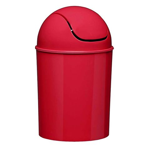 Umbra Mini Waste Can 1 1 2 Gallon Swing Lid Red Garbage Can Red Kitchen Accessories Canning