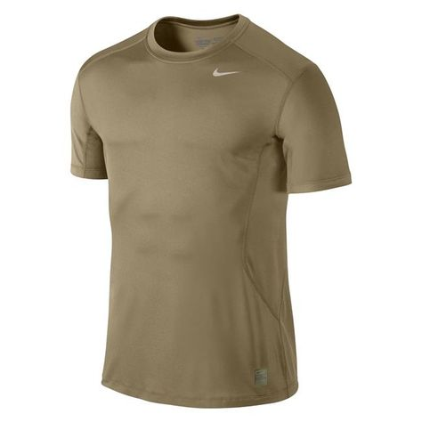 12ce681700bf NIKE Pro Combat Core Fitted SS Shirt Grain