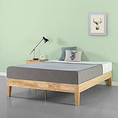 Amazon Com Zinus Moiz 14 Inch Deluxe Wood Platform Bed No Box