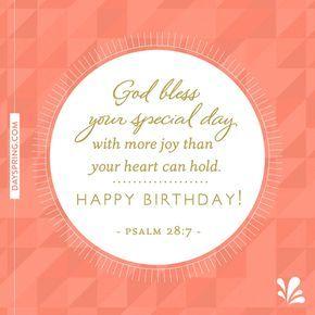 God Bless Your Special Day Psalm 28 7 Kartu Ulang Tahun Ulang