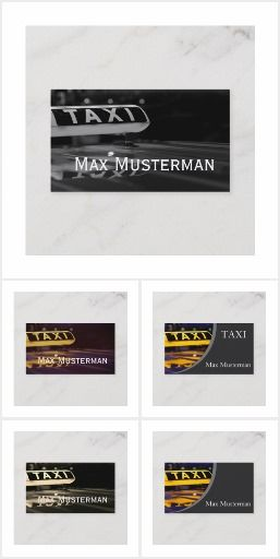 Taxi Visitenkarten Visitenkarten Karten Und Visitenkarten