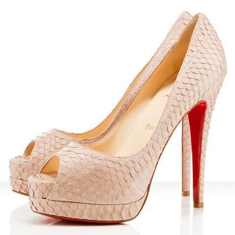 design intemporel 86faa c17a8 Christian Louboutin Altadama 140mm Toe Escarpins Rose Powder ...
