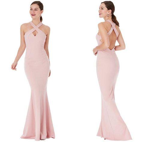 Vestiti Eleganti Rosa Antico.Rosa Cipria Vestito Lungo Elegante Dr1557 Vestiti Abiti Formali