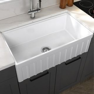 Yorkshire Farmhouse Fireclay Single Bowl Kitchen Sink With