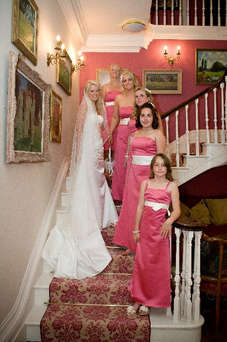 Pink Walls Bridesmaids Dresses The Wedding Venue Is Deer Park Hotel