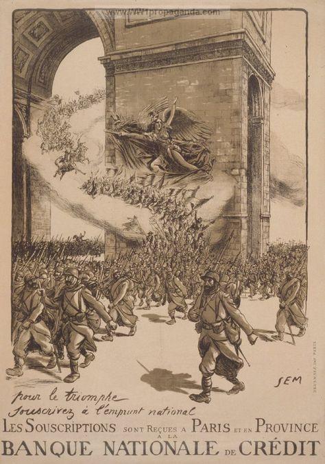 1916 Sem Emprunt National Premiere Guerre Mondiale Defense