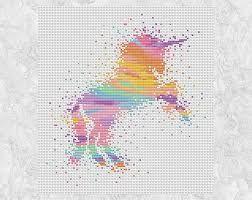 free printable unicorn cross stitch patterns