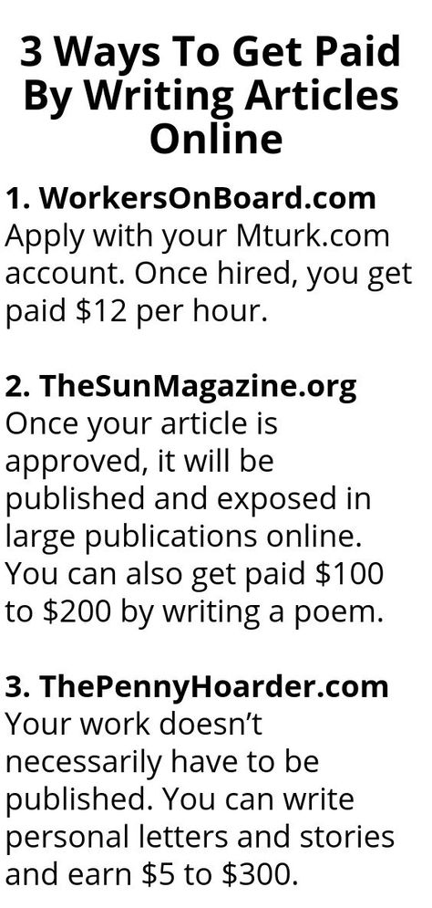 3 Ways To Get Paid By Writing Articles Online