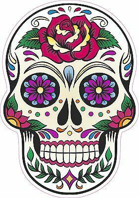 Candy Sugar Skull Day Of The Dead Decal Vinyl Sticker Color 4 Designs 5 Sizes Sugar Skull Artwork Sugar Skull Painting Skull Painting