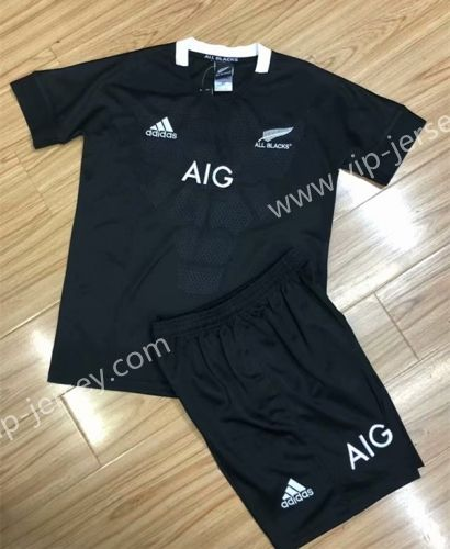 2018 19 All Blacks Black Thailand Kids Youth Rugby Uniform 805 All Blacks Rugby Shirt Rugby Shirt Rugby Kids