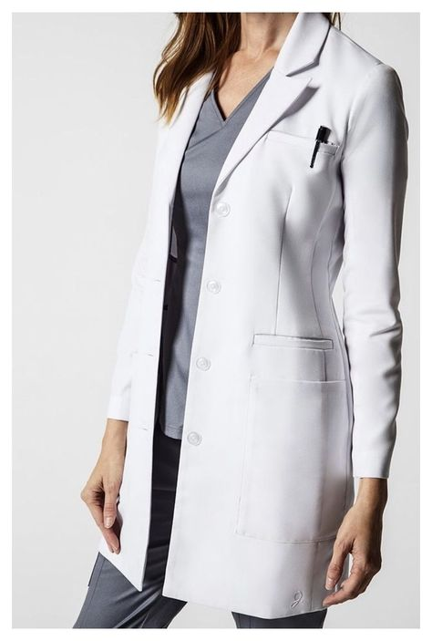 The Ultimate Ob/Gyn Gift Guide #lab #coat #outfit #nurse #labcoatoutfitnurse The season is here—hot chocolate, Christmas cookies, holiday cards...and that office Secret Santa gift exchange. If your daughter, sister, friend, or colleague is a women's health provider take a look at the gift guide below and see how to help her start 2019 off right! Doctor White Coat, Doctor Coat, White Coat Outfit, White Lab Coat, White Coats, Scrubs Outfit, Coats For Women, Clothes For Women, Ladies Coats And Jackets
