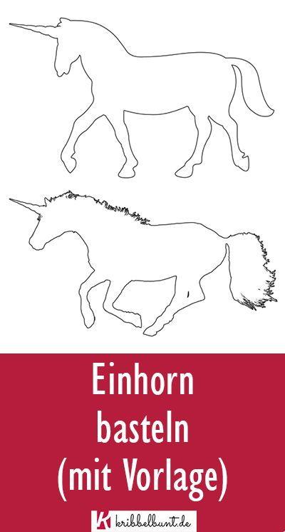 Einhorn Vorlage Einhorn Schablone Als Pdf Vorlagen Einhorn Basteln Schablonen
