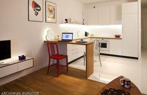 Jak Urzadzic Salon Z Aneksem Kuchennym W Bloku Szukaj W Google Kitchen Seating Small Apartments Small Kitchen