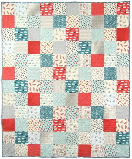 Mighty Machines Big Quick Patch Flannel Quilt Kit featuring