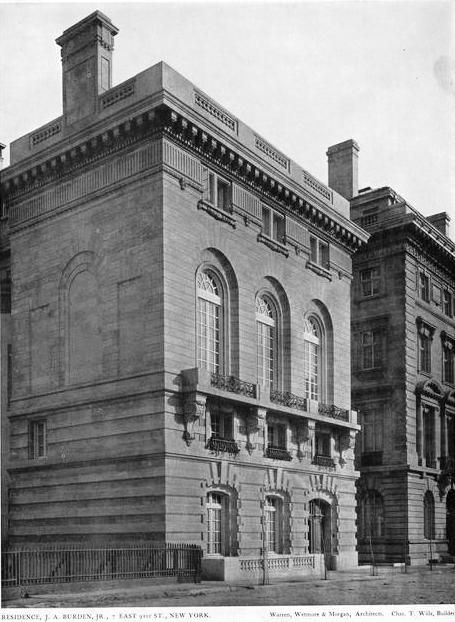 James A Burden Jr House New York Ny C 1905 Residence Of James A Burden Jr And Florence Adele Sloan Mansions American Architecture Manhattan Residence
