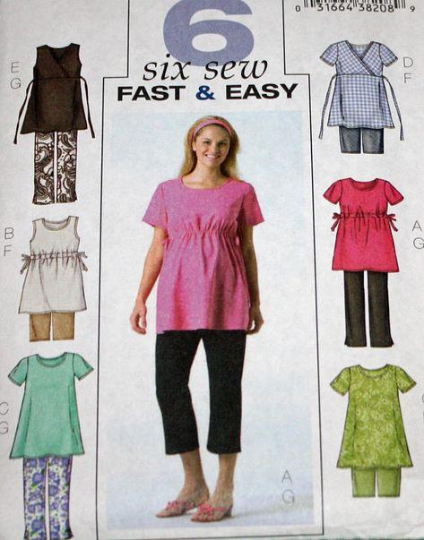 1a7e8c1f0f6c4 UNCUT, Butterick B4201, Sewing Pattern, Misses', Maternity, Maternity  Clothes, Tops, Shorts, Pants,