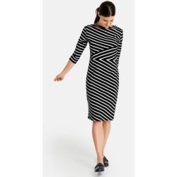 Gestreiftes Kleid Schwarz Gerry Weber Hello Start Knitting The Model Of A Man S Cardigan That You Ca In 2020 Printed Sweater Dress Striped T Shirt Dress