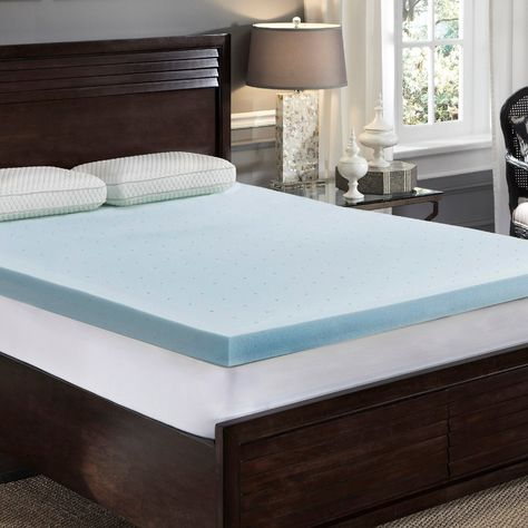 Loftworks 3 Inch Jelly Soft Cool Gel Memory Foam Topper With