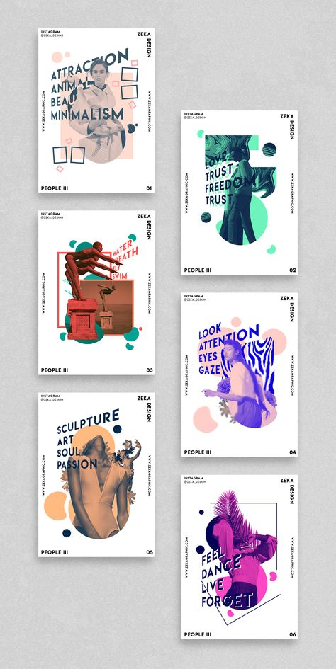 People 3 Poster Design Project Graphic Design Inspiration by Zeka Design
