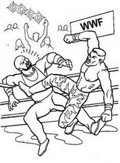 WWE WWF Wrestling John Cena Raw Kids Coloring Pages Free ...