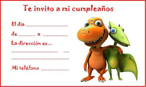 Invitaciones Para Cumpleaños De Dinosaurios Manualidades