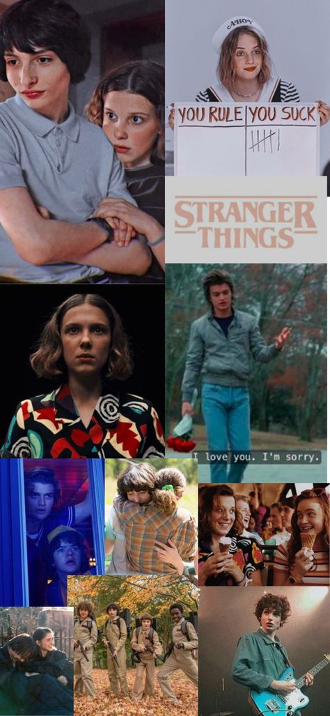 Stranger Things collage (1080×2340 px).