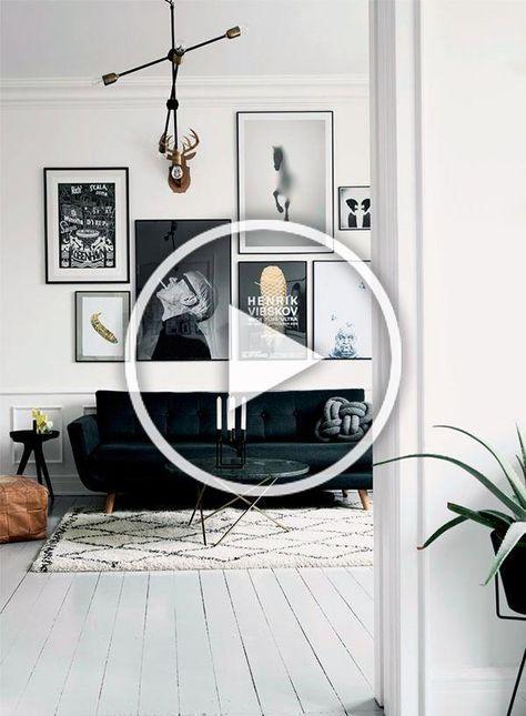 nice Helles Wohnzimmer mit schicker Bildergalerie in schwarz-weiß... by www.top-100-homed...