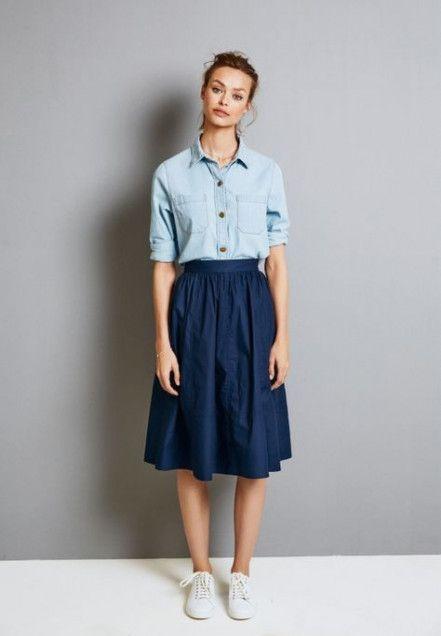 Trendy Fashion Vintage Chic Midi Skirts Ideas Vintage Shirt Dress Modest Outfits Fashion