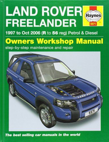 Land Rover Freelander Service And Repair Manual 1997 2006 By Martynn Randall Haynes Publishing Group Isbn Land Rover Freelander Land Rover Repair Manuals