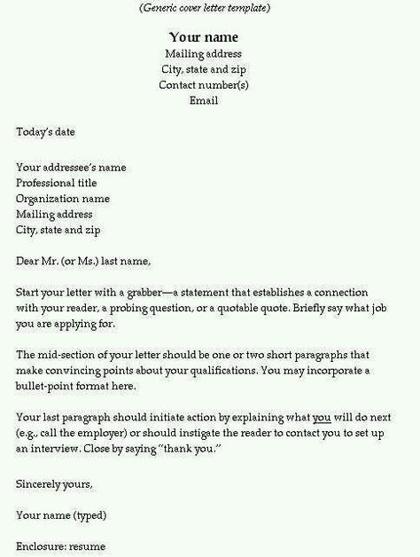 Best Examples of Resumes, Cover Letters and Thank You Letters