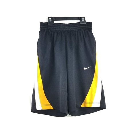 f247be2827237 Nike Men s Dri-Fit Shorts Size Small Basketball Shorts Black Yellow White   Nike  Shorts