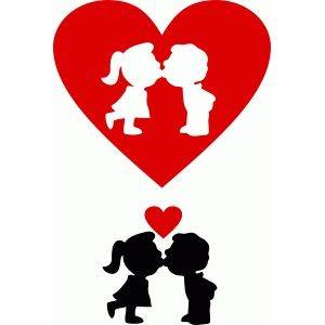Silhouette Design Store - View Design #54257: sweet kiss