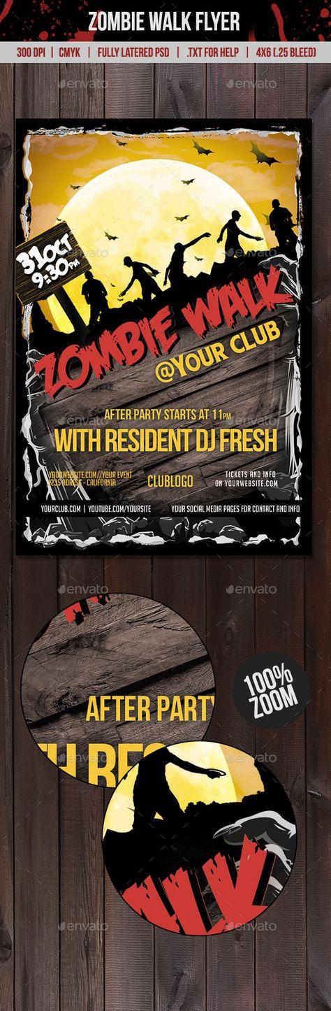 Zombie Walk Flyer Zombie walk, Flyer template and Web inspiration - zombie flyer template
