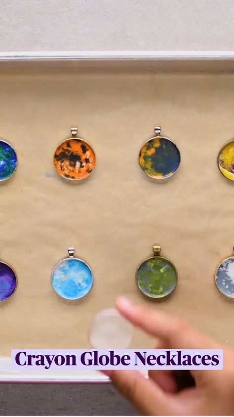 Crayon Globe Necklaces