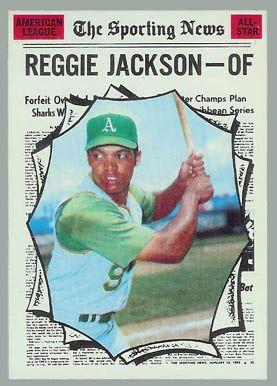 1970 Topps Reggie Jackson All Star Mlb Baseball Cards