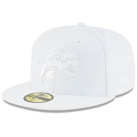 Detroit Lions New Era White on White 59FIFTY Fitted Hat in 2018 ... 268ab3e8d
