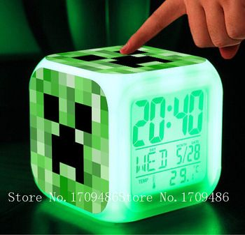Light Touch Minecraft Reveil Brinquedos Jeu De Dessin Anime Toy
