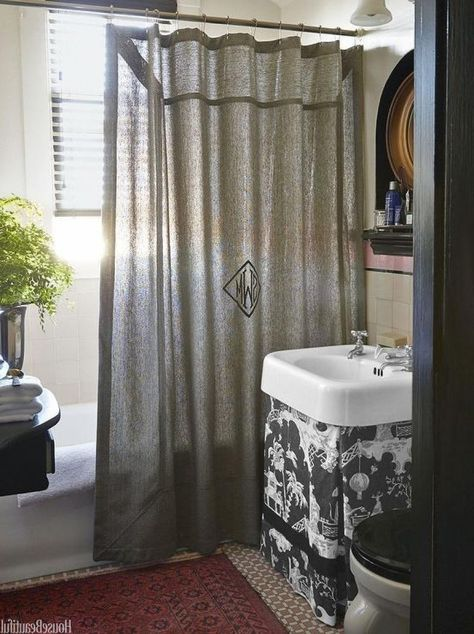 Image Result For Ballard Designs Monogram Shower Curtain