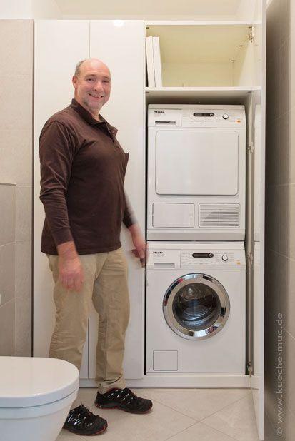 Einbauschrank Fur Miele Waschmaschine Und Miele Waschetrockner Ubereinander Harald Maier Wir Planen Einbauschrank Einbauschrank Waschmaschine Waschmaschine