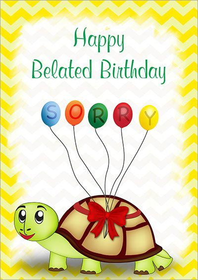 Download Set Of Happy Belated Birthday Images Belated Birthday Card Birthday Card Printable Birthday Card Template