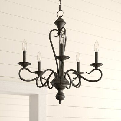 Fleur De Lis Living Birchview 5 Light Chandelier Color Burnished Gold Chandelier Candle Covers Chandelier Lighting Traditional Chandelier