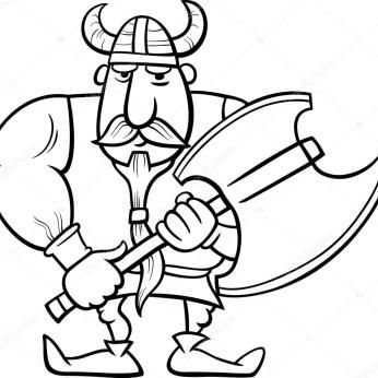 Pin By Ana Avalos On Drawing Ideas Black And White Cartoon Viking Art Cartoon Coloring Pages