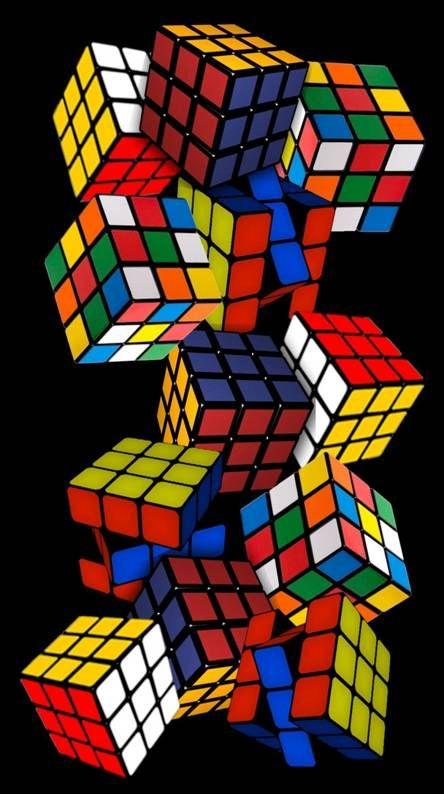 Rubiks Cubes Too Rubiks Cube Optical Illusions Art Galaxy Wallpaper