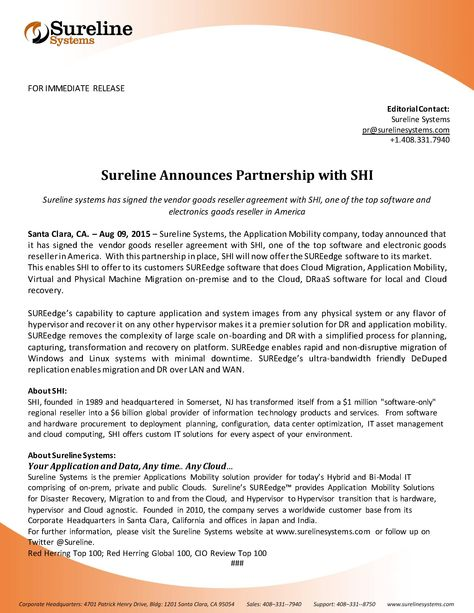 Sureline Systems Announces Its Cloud Migrator Training And