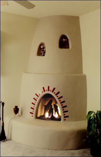 Santa Fe Kiva Fireplace Kit With Nichos And Tile Fireplace Gallery Fireplace Kits Fireplace