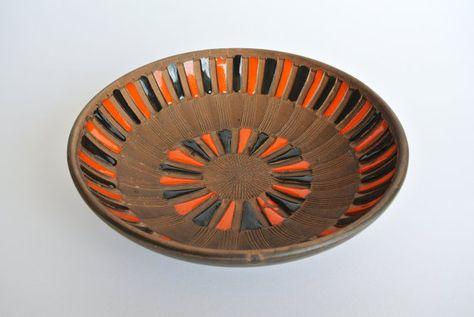 De Vintage 1960 1970 keramische kom Made in Italy. | Etsy