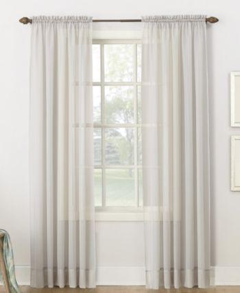 Lichtenberg No 918 Sheer Voile 59 X 95 Rod Pocket Curtain Panel