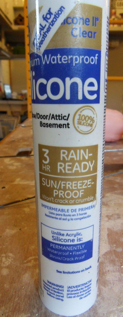g e clear premium waterproof silicone caulk for gazing balls (tutorial link)