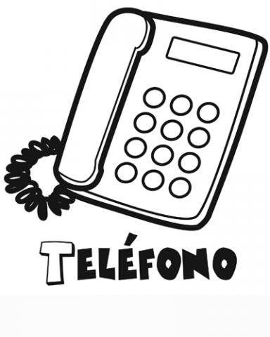Menta Mas Chocolate Recursos Y Actividades Para Educacion Infantil Dibujos Para Colorear De Medios Dibujos De Telefonos Comunicacion Dibujos Telefono Dibujo